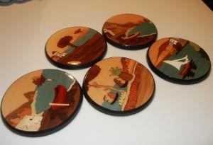 Inlaid Wood Coasters