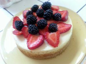 strawberry and blueberry dessert