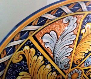 Ceramic plate detail