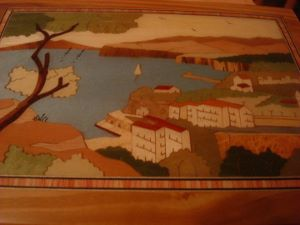 Sorrento Inlaid Wood Table