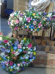 Jewel Wreaths Topiaries