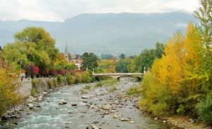 Autunno in the Northern Italian City of Merano (pronounced Meerano), Region South Tyrol, Alto Adige.