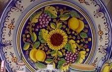 Vietri sunflower plate