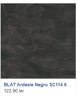 Blat Ardezie Negru