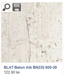 Blat beton alb