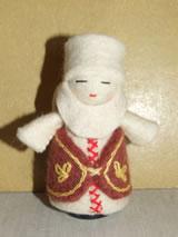 Vilten kerststal meegenomen uit Kirgizië