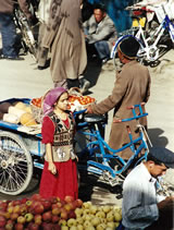 De markt in Kashgar, China