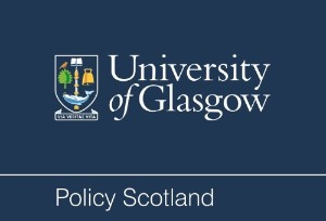 Logo of Policy Scotland which also says University of Glasgow and show the University crest