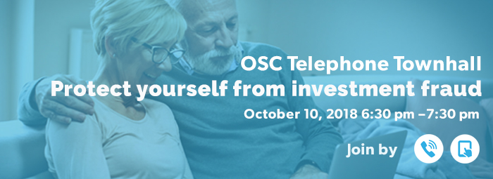 OSC Telephone Townhall - October 10, 2018
