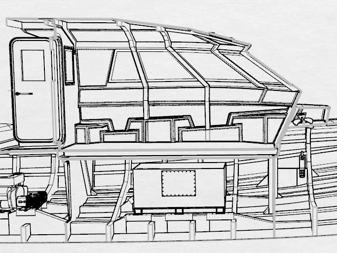 M37-02 ST P120 IPS : vue de la maquette 3D en cours d'étude