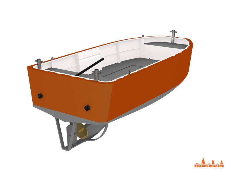 M52-01 Mini tugboat 5m : vue de présentation