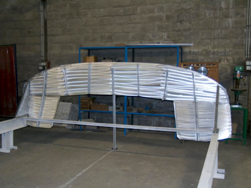 V24-01 Voilier de croisière de 40 pieds : début de la construction
