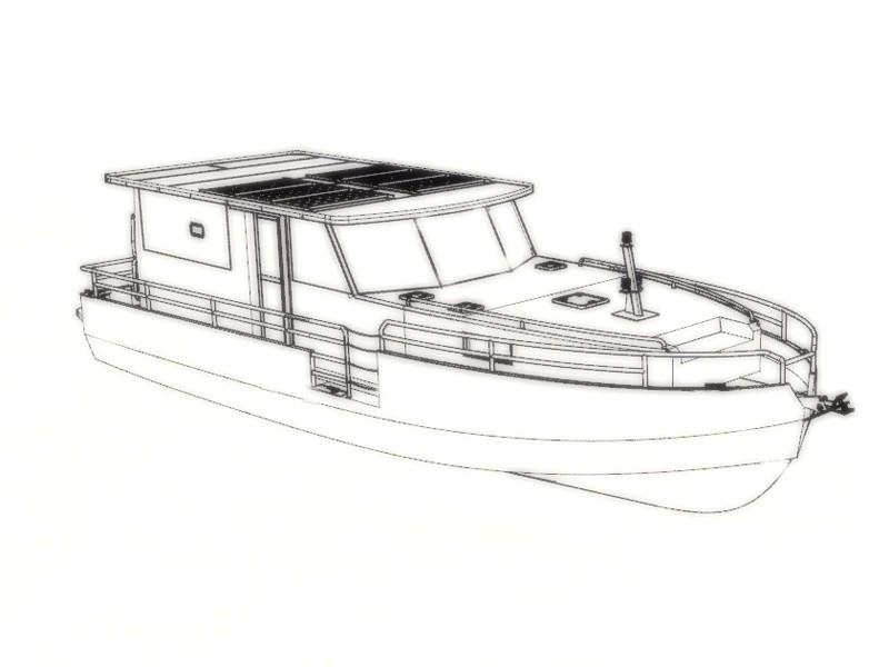 M50-01 Vedette fluvio-maritime 11m : vue de présentation