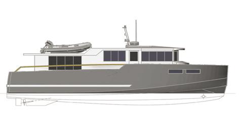 M46-01 Trawler 16m : vue de présentation