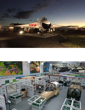 Images of the Vulcan XM 603 and the AVRO Heritage Museum at Woodford