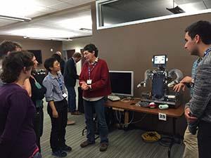 UQ students Zinta Flodine and Alexia Lee meet TDLC's Dr Deborah Forster