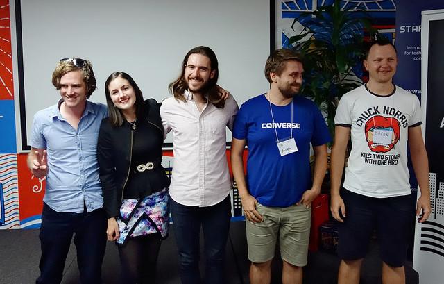 The winning team of Brisbane HealthHack 2016