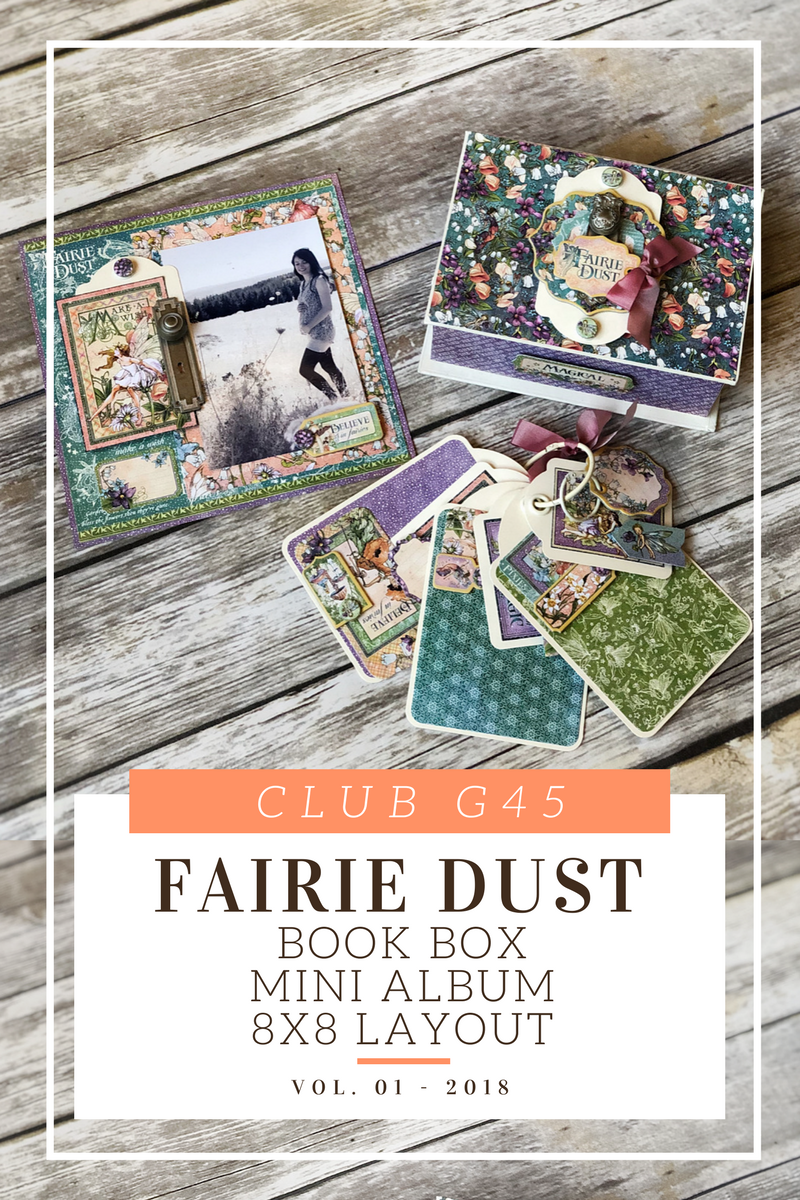 Club g45, vol 1, 2018, fairie dust, book box, mini album, layout, graphic 45, Maria Cole