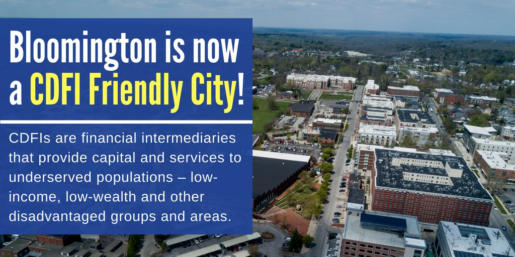 Bloomington is now a CDFI Friendly City Graphic