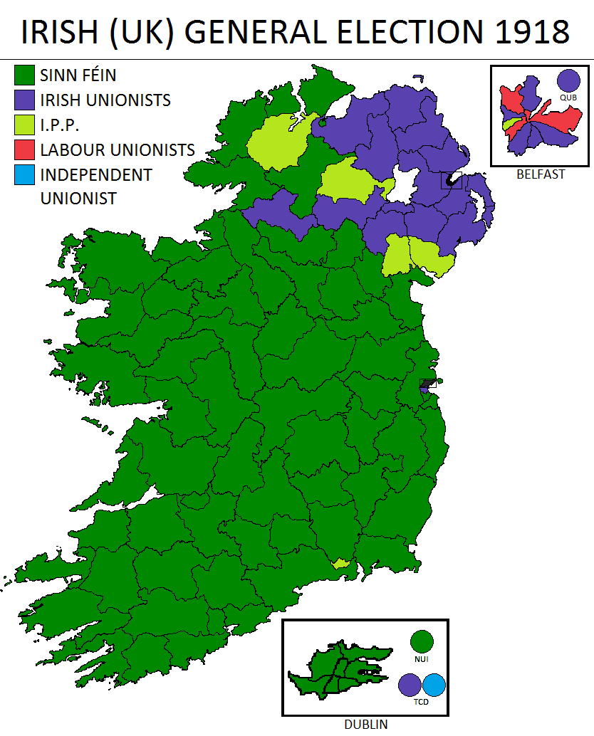 1918 Election Results in Ireland