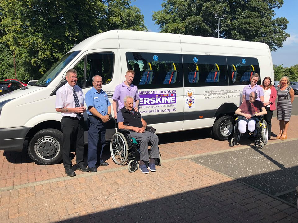 2018's AFoEH donated Minibus at Erskine Hospital