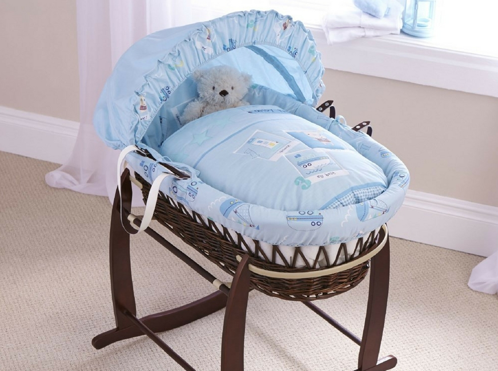 Ahoy Wicker Moses Basket