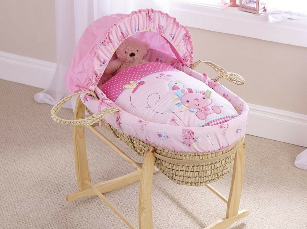 Lottie & Squeek Palm Moses Basket