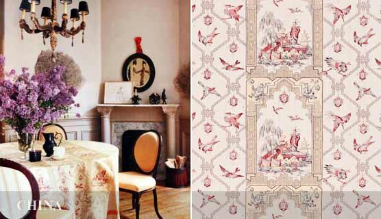 CHINA linen  by Bennison Fabrics