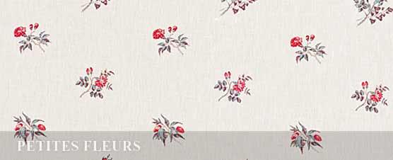 PETITES  FLEURS linen by Bennison Fabrics