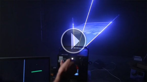 Leap Motion with interactive lasers