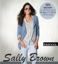 Hurry - 10% Offer at Sally Brown ends 31st May