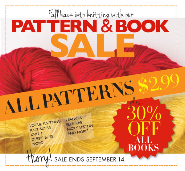 VOGUE KNITTING PATTERN & BOOK SALE