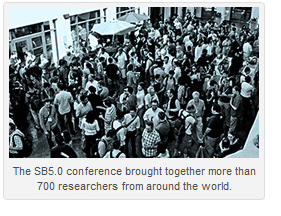 The SB5.0 conference brought together more than 700 researchers from around the world.