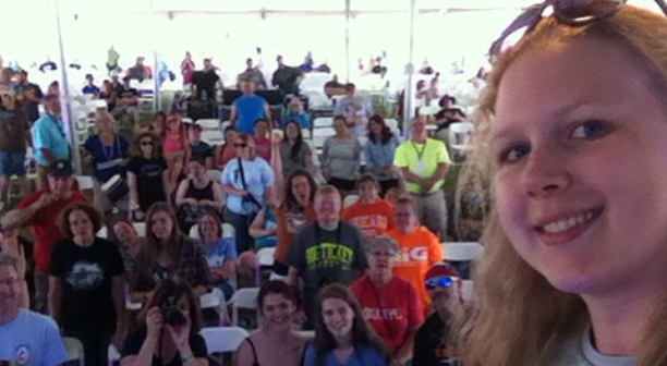 Selfie from the Worship Stage