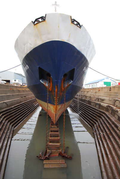 Spirit of Enderdy in drydock
