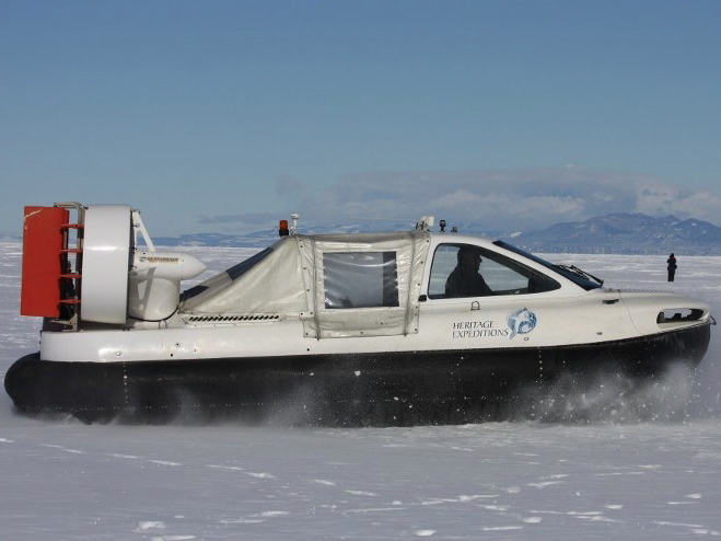 Heritage Expeditions unique Antarctic hovercrafts