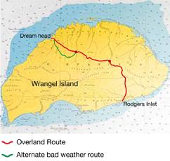 Wrangel Island overland map