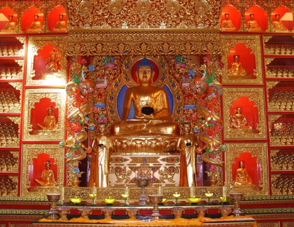 Main Shrine at Samye Ling monastery