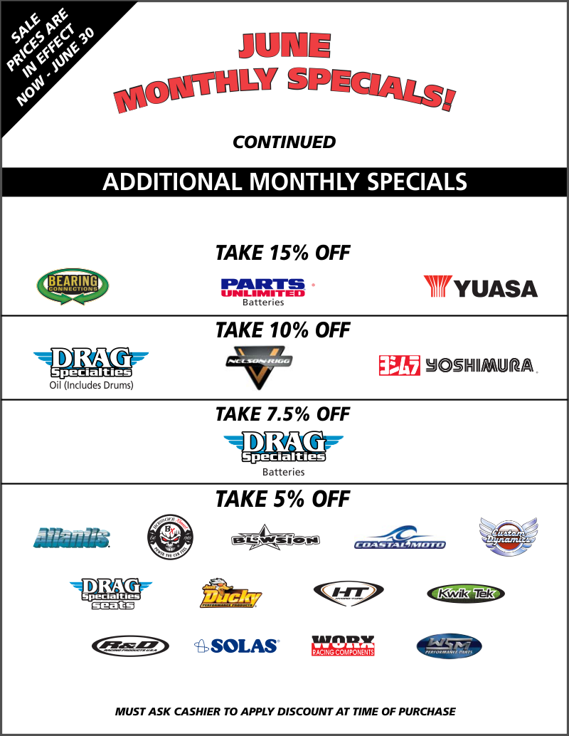 TT June Monthly Specials