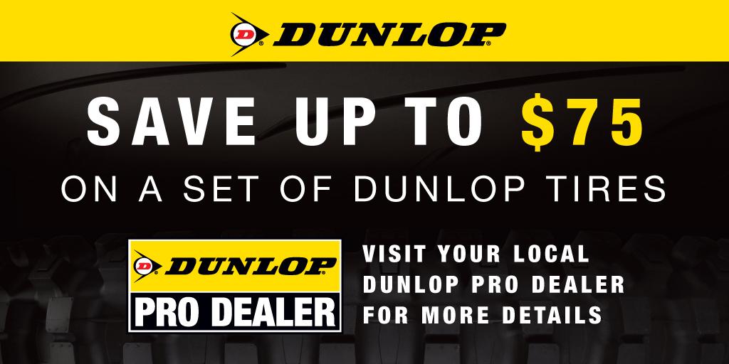 TT Motorcycles Dunlop April Monthly Rebates
