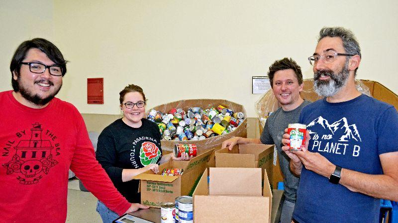 Volunteers at the Food Bank