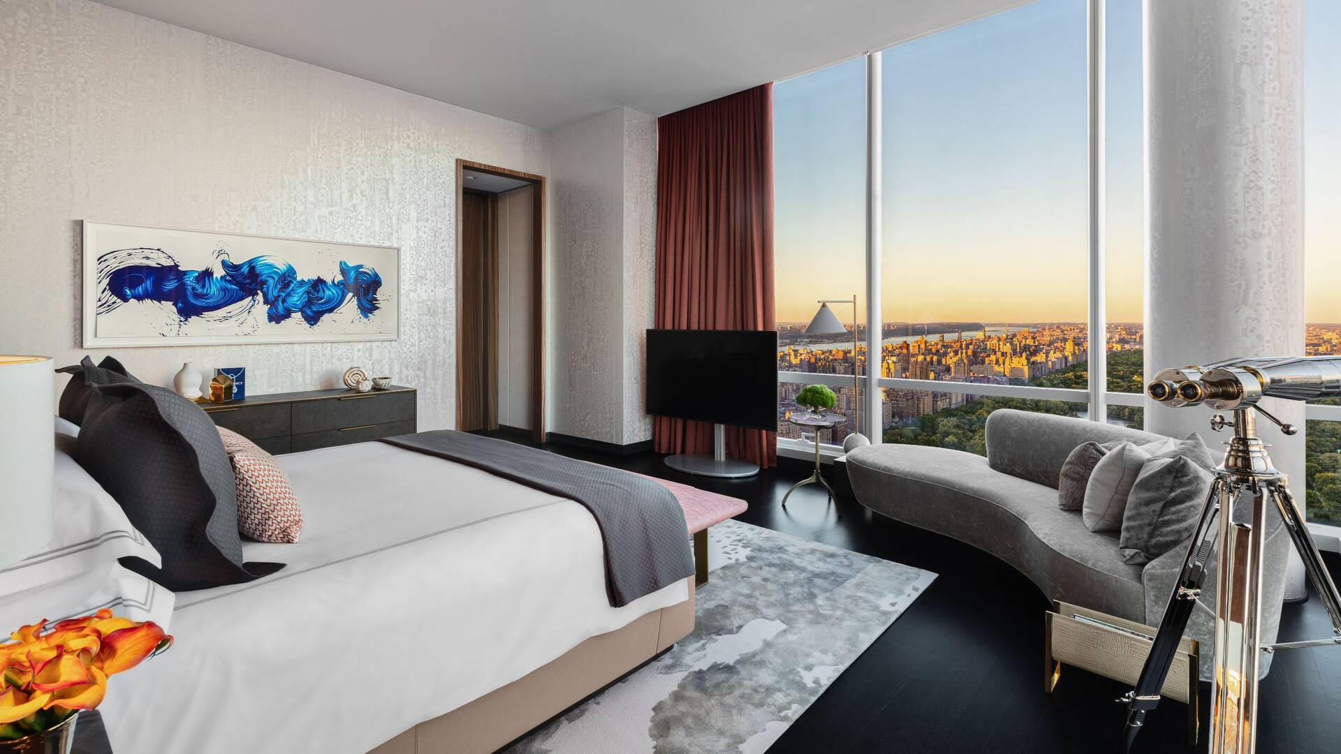 Master Bedroom in the Manhattan Sky Suite at Park Hyatt New York