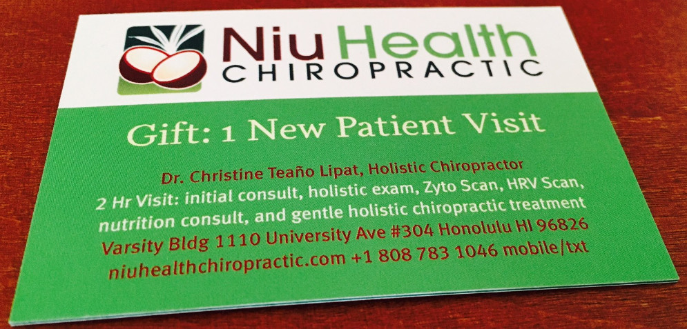 Niu Health for a New You! Gift Certificate Square Store