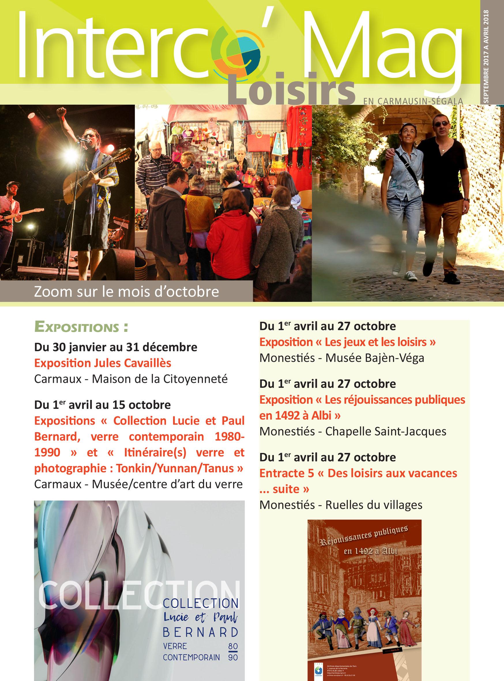 Interco'Mag Loisirs - zoom sur le mois d'octobre