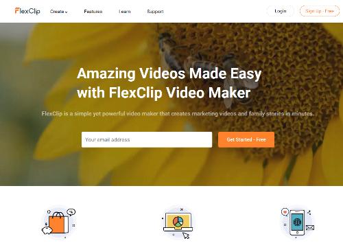 FlexClip - un outil pour créer des vidéos