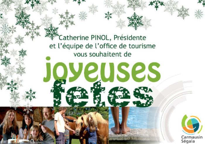 L'office de tourisme vous souhaitent de Joyeuses fêtes
