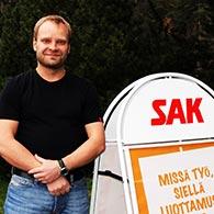 """Harri """"Hapi"""" Lindholm valittiin vuoden luottamusmieheksi 2012 / SAK"""