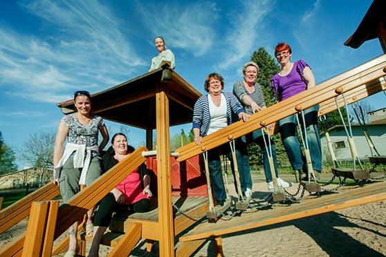 Paimion perhepäivähoitajat ovat rakentaneet itselleen oman työyhteisön. Kuva: Robert Seger