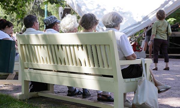 Eläkeneuvottelut olivat esillä myös Porin SuomiAreenassa heinäkuussa. Kuva: SuomiAreena