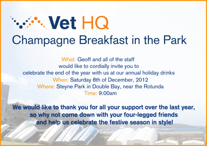 Champagne Breakfast in the Park